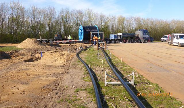 Prysmian landkabler til COBRA forbindelsen er ankommet til Esbjerg