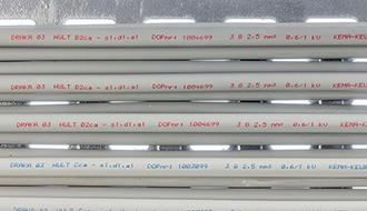 HULT 0,6/1 kV B2ca - med rød kabelmærkning og KEMA-KEUR certificering