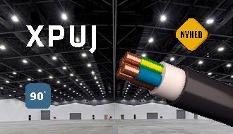 XPUJ - Helt sort kabel til fast halogenfri installation