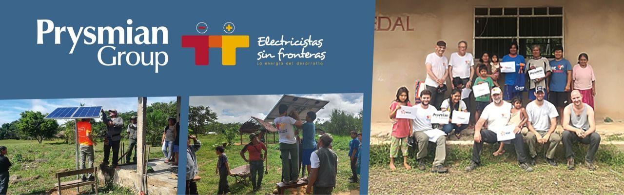 Prysmian samarbejder med Elektrikere uden Grænser i Amazonas
