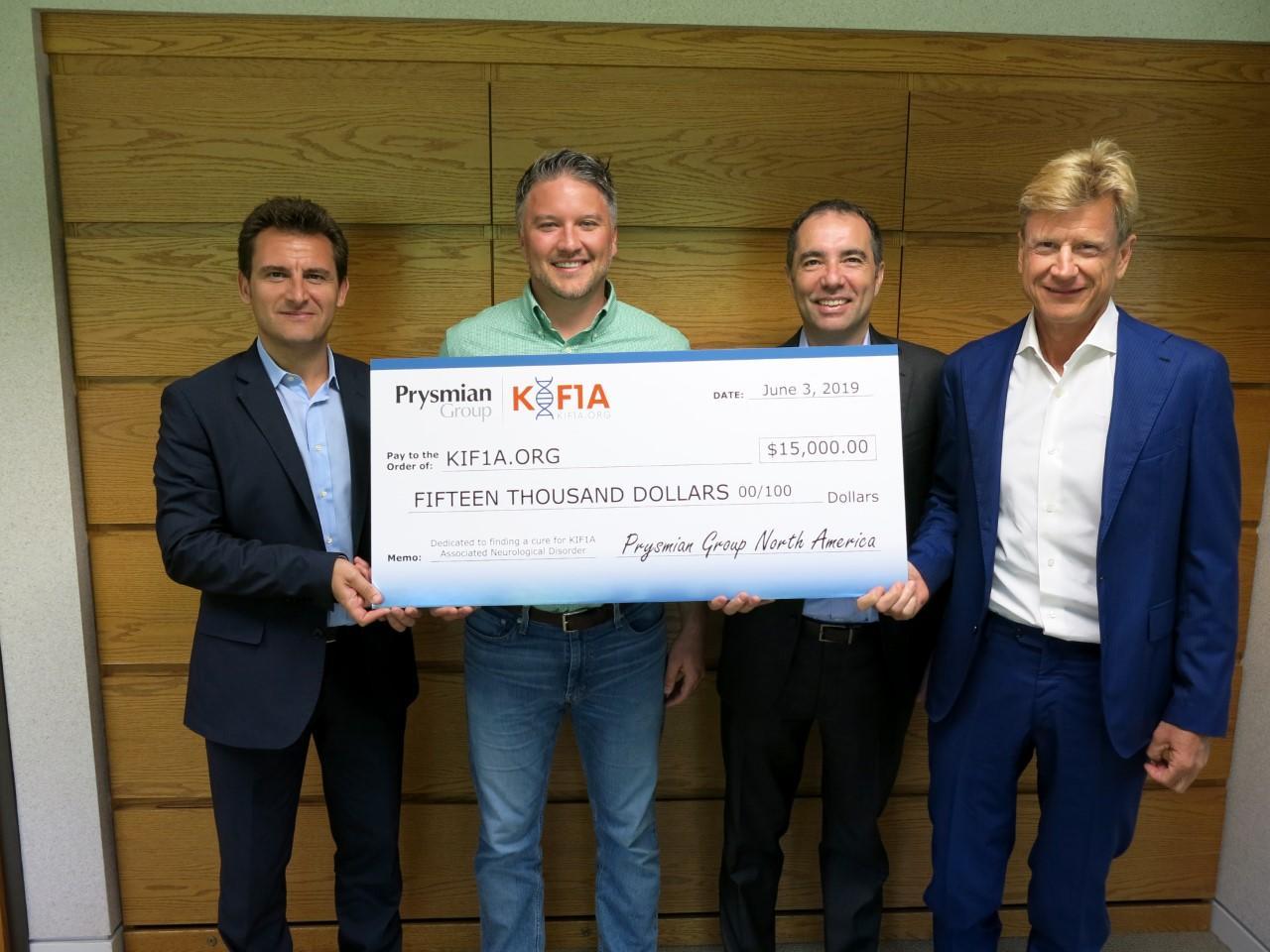 Prysmian donerer penge til medarbejders søgen efter en behandling for KAND
